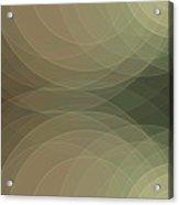 Dust Semi Circle Background Horizontal Acrylic Print