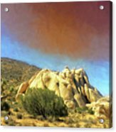 Dust Storm Over Joshua Tree Acrylic Print