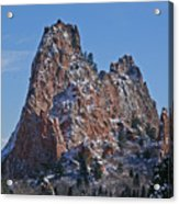 Dusted Mountain Acrylic Print