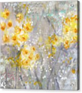 Dusty Miller- Abstract Floral Painting Acrylic Print