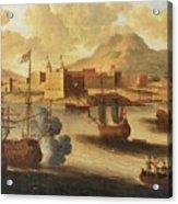 Dutch And English Warships Acrylic Print