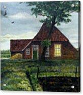 Dutch Farm At Dusk Acrylic Print