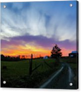 Dutch Lane In Evening Sky Acrylic Print