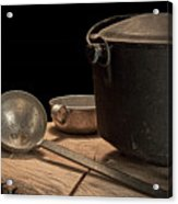 Dutch Oven And Ladle Acrylic Print