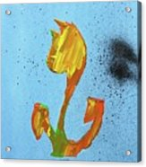 Dutch Pride Yellow And Orange Acrylic Print