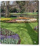 Dutch Tulip Gardens Acrylic Print