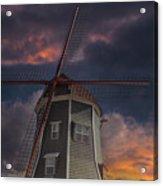 Dutch Windmill In Lynden Washington State At Sunset Acrylic Print