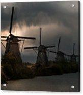 Dutch Windmills In Kinderdjik Acrylic Print
