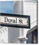 Duval Street In Key West Acrylic Print