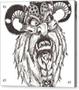 Dwarf Berserker Acrylic Print by Law Stinson