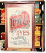 Dy-o-la Dyes Acrylic Print