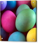 Dyed Easter Egg Abstract Acrylic Print
