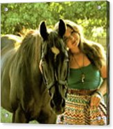 Dylly And Lizzy Acrylic Print