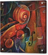 Dynamic Duo - Cello And Scroll Acrylic Print