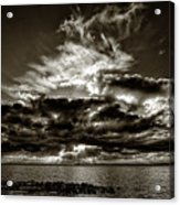 Dynamic Sunset - Sepia Acrylic Print