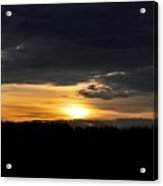 Dynamic Sunset Over Field Acrylic Print
