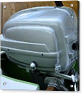 Vintage Silver Outboard Boat Motor Acrylic Print