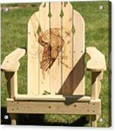 Eagle Adirondack Chair Acrylic Print