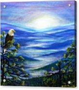 Eagle Blue Ridge Mountain Sunrise Acrylic Print