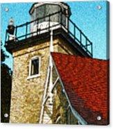 Eagle Bluff Lighthouse Re-imagined Acrylic Print