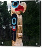 Eagle Clan Totem Pole Acrylic Print