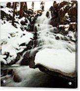 Eagle Falls Raging On Ice Acrylic Print