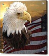 Eagle Flag I Acrylic Print