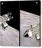 Eagle Shuttle - Gently Cross Your Eyes And Focus On The Middle Image Acrylic Print
