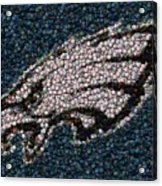 Eagles Bottle Cap Mosaic Acrylic Print