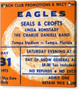 Eagles Tampa Stadium 1975 Acrylic Print