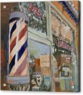 Eaker's Barbershop Acrylic Print