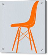 Eames Fiberglass Chair Orange Acrylic Print
