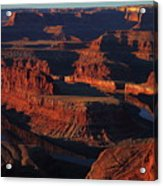 Early Morning Light Hits Dead Horse Point State Park Acrylic Print