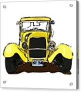 Early 1930s Ford Yellow Acrylic Print