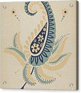 "Early Californian Skirt From The Portfolio ""decorative Art Of Spanish California"" Acrylic Print"