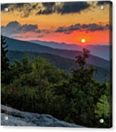 Blue Ridge Parkway Sunrise - Beacon Heights - North Carolina Acrylic Print