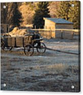 Early Farm Wagon Acrylic Print