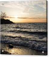 Early Lakeside - Waves Sand And Sunshine Acrylic Print