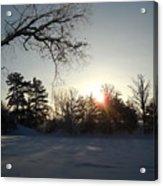 Early January Winter Sunrise Acrylic Print