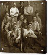 Early Monterey Baseball Team Circa 1895 Acrylic Print