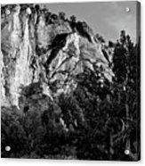 Early Morining Zion B-w Acrylic Print