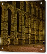 Early Morning At The Aqueduct Of Segovia Acrylic Print