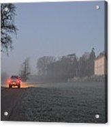Early Morning Car Lights Acrylic Print