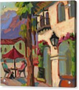 Early Morning Coffee At Old Town La Quinta Acrylic Print