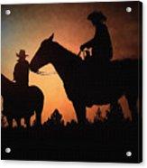 Early Morning Cowboys Acrylic Print