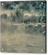 Early Morning Frost On The River Acrylic Print