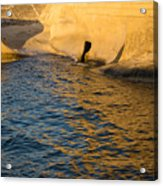 Early Morning Gold At Valletta Fortifications Acrylic Print