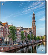Early Morning In Amsterdam With Canal Acrylic Print