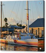 Early Morning In The Harbor Acrylic Print
