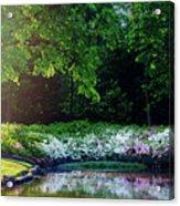 Early Morning Light At The Azalea Pond Acrylic Print